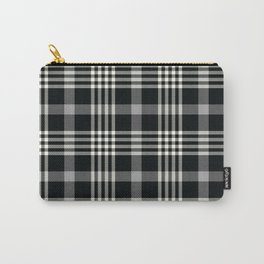 Black Plaid Carry-All Pouch