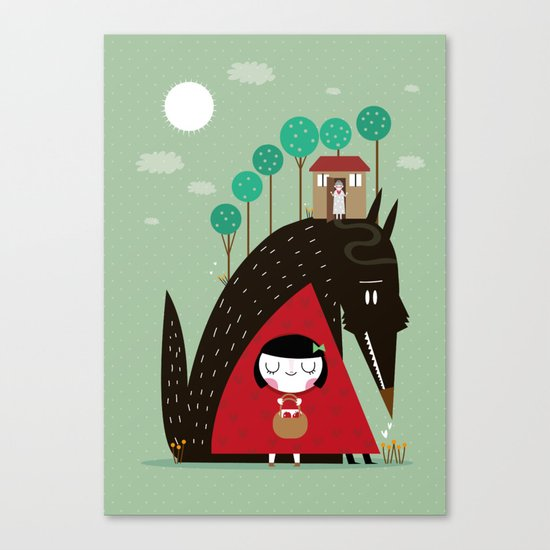 Story telling: little red Canvas Print