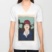 agent carter V-neck T-shirts featuring Agent Carter by saintsandstorms