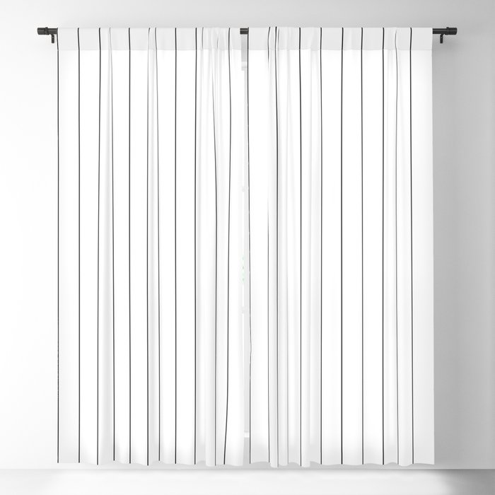 f2e11b21 White Black Pinstripes Minimalist Blackout Curtain by beautifulhomes ...
