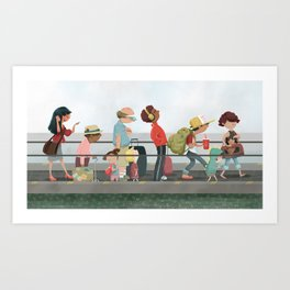 People Mover Art Print