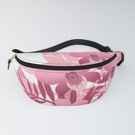 Bouquet of pink tropical plants Fanny Pack