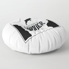 Overcome your fear Floor Pillow