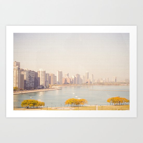 Summer In The City Chicago Art Print
