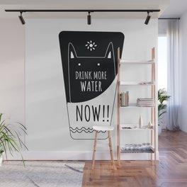 Caring cat Wall Mural