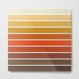 70s Stripes - 70s, retro, retro stripes, ombre, rust, orange, brown,  yellow Metal Print