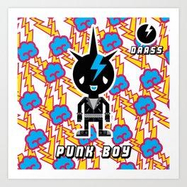 Punk Boy - Daass Art Print