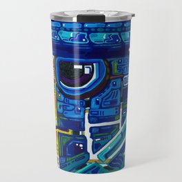 Blue Eagle (with train of thoughts included) Travel Mug