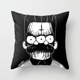 Black Metal Religious Guy Throw Pillow