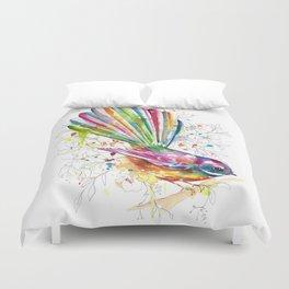 Sketchy Fantail Duvet Cover