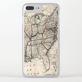 United States - Map including Louisiana - 1818 Clear iPhone Case