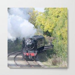 Steam locomotive 48624 Metal Print