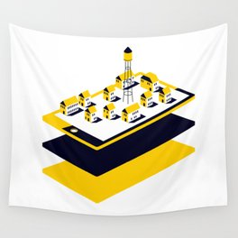 One little Village Wall Tapestry
