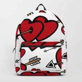 Heart background Backpack