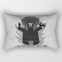 Bad Bear Hell Fire Rectangular Pillow