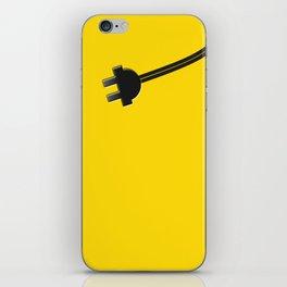 Yellow Power Cord iPhone Skin