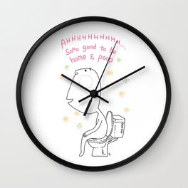 Home Poo Wall Clock