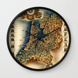 Map of Holland Wall Clock