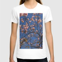 cherry blossoms T-shirts featuring cherry blossoms... by winnie patterson