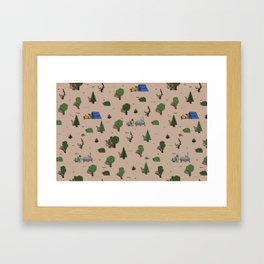 Cryptic Woodlands Framed Art Print
