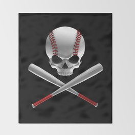 Phantom Ballplayer Throw Blanket