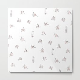 Rabbit Yoga Metal Print