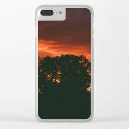 Stunning Bright Orange Sunset Clear iPhone Case