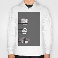 sushi Hoodies featuring Sushi! by Caitlin Krupinski