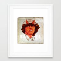 acdc Framed Art Prints featuring ACDC   Highway to Hell by KVNCHRLZ