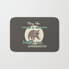 Wombat of Happiness Bath Mat