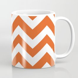 Flame - orange color - Zigzag Chevron Pattern Coffee Mug