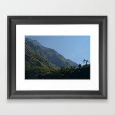 Lush Scenery Ghasa to Tatopani Framed Art Print