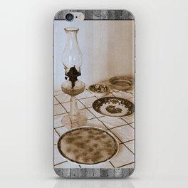 Still life on basalt iPhone Skin