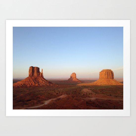Monument Valley Landscape at Sunset Art Print