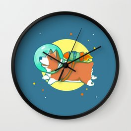 Space Corg Wall Clock