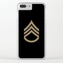 Staff Sergeant (Brown) Clear iPhone Case