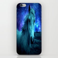 Fairy Tale Horse : Teal Blue iPhone & iPod Skin