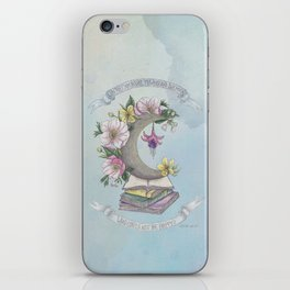 Freedom, Books, Flowers and The Moon iPhone Skin