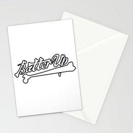 batter up skeleton bones Stationery Cards