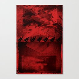 SACRA SINDONE [RED] Canvas Print