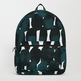 Watercolor Pattern in Teal and Black Backpack