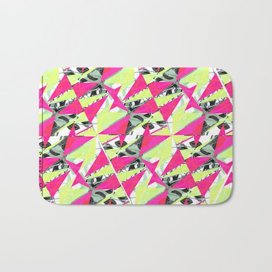 Colorful Triangles. Bath Mat