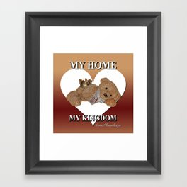 My home, My Kingdom - Creme Framed Art Print