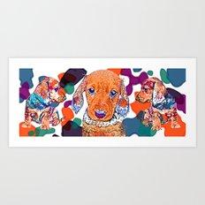 Technicolor Doxie Art Print