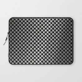 Black and Silver Gray Ghost Checkerboard Weimaraner Laptop Sleeve