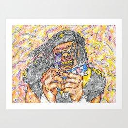Alvin Kamara with Airheads Art Print