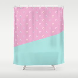 Gamer Girl - Pastel Playstation Controller Buttons Shower Curtain