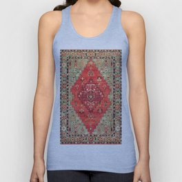 N114 - Vintage Old Antique Oriental Moroccan Artwork. Unisex Tank Top