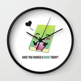 Book Emoji Love Wall Clock