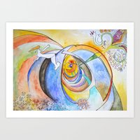 trip Art Prints featuring trip by Meld & Heal